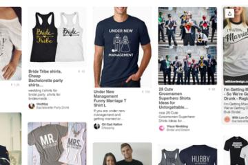 Pinterest - svatební trička