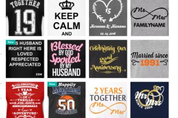 Spreadshirt - svatební výročí