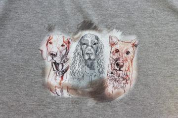 Kresba – tři psi 2
